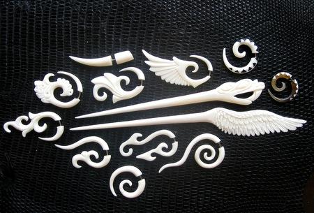 украшения изкости, кость, рог, резьба, костяные украшения, трайб, x-tribal, гоа-стайл, трансерская мода