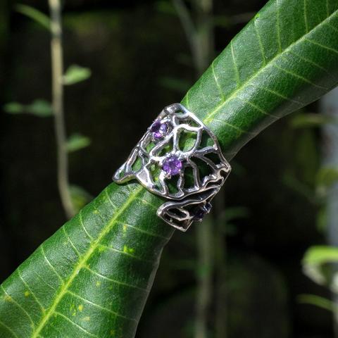 кольцо саметистом