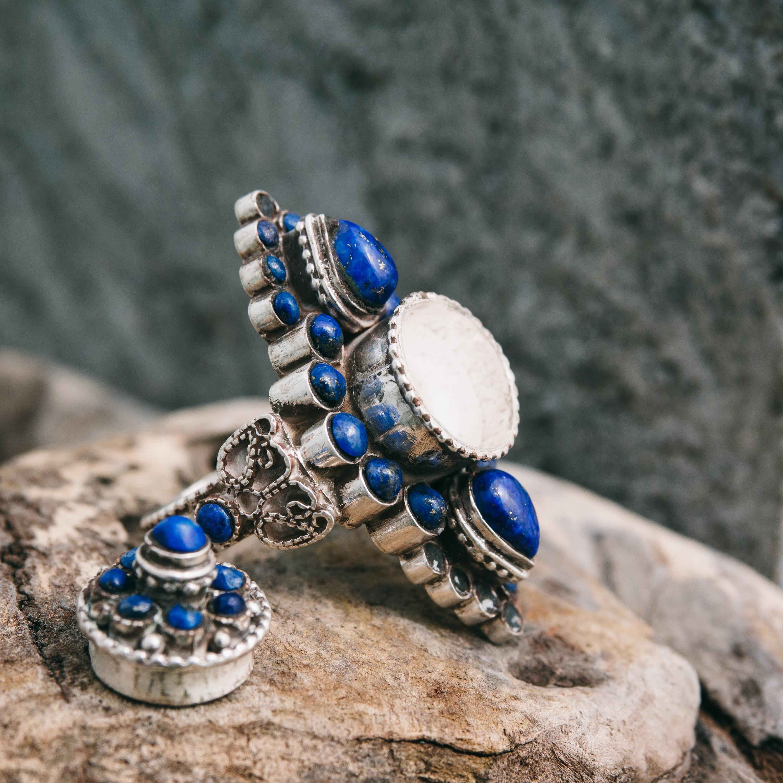 Украшения из лазурита - купить лазуритовые бусы, браслеты