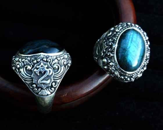 перстень с ОМ, кольцо с лабрадором, этнические украшения, лабрадорит