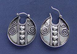 серебряные серьги, этнические серьги