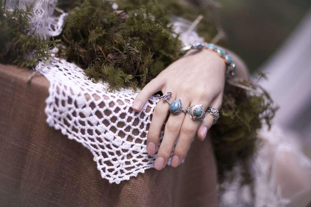 серебряные кольца украшения стиль бохо