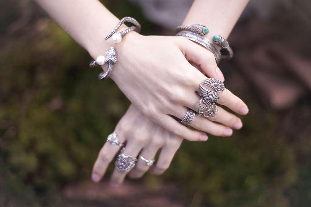 кольцо крылья серебро украшения