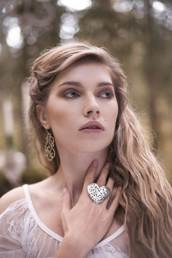 Кольцо сердце серебро необычные украшения