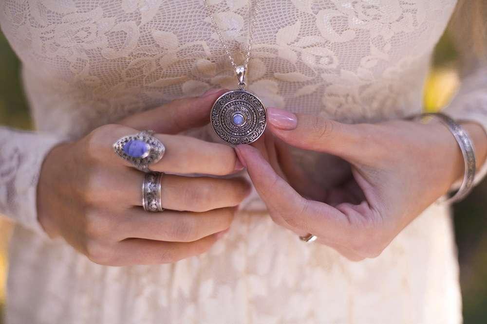 серебряные украшения бохо