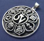серебряный кулон, тибетские украшения, кулон ом