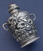 серебряный сосуд, тибетские украшения, старинное серебро